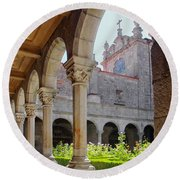 Cathedral Cloister Round Beach Towel