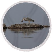 Caught One Round Beach Towel by Eunice Gibb