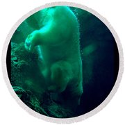 Round Beach Towel featuring the photograph Cave Dive by Susanne Still