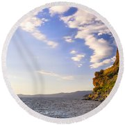 Cave Rock - Lake Tahoe Round Beach Towel