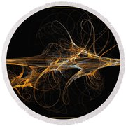 Celebration Of Impulses - Abstract Art Round Beach Towel