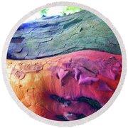 Round Beach Towel featuring the digital art Celebration by Richard Laeton