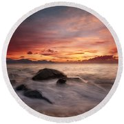 Celtic Sunset Round Beach Towel