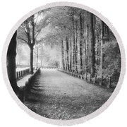 Cemetery At Ypres  Round Beach Towel