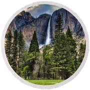 Chapel In The Valley 2 Round Beach Towel