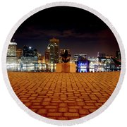 Charm City Skyline Round Beach Towel