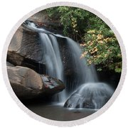 Round Beach Towel featuring the photograph Chau-ram Falls by Lynne Jenkins