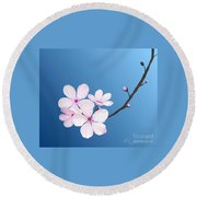 Cherry Blossoms Round Beach Towel
