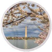 Cherry Blossoms Washington Dc 4 Round Beach Towel