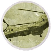 Cherry Point Marines  Round Beach Towel