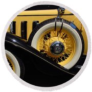 Round Beach Towel featuring the photograph Chevrolet 1932 by John Schneider
