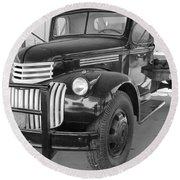 Chevrolet Farm Truck Round Beach Towel