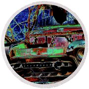 Chevy Long Gone Round Beach Towel