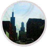 Chicago Flow Round Beach Towel