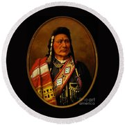 Chief Joseph Round Beach Towel by Pg Reproductions