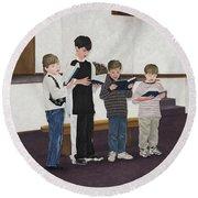 Children Sing Praise Round Beach Towel