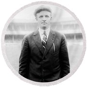 Round Beach Towel featuring the photograph Christy Mathewson - Major League Baseball Player by International  Images