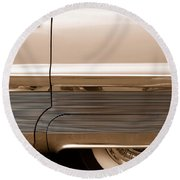 Chrome Round Beach Towel