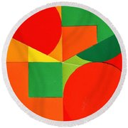 Circles Colorized Round Beach Towel