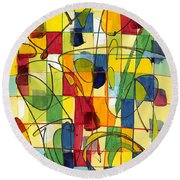 Circus Partners Round Beach Towel