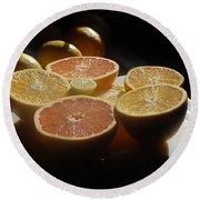 Citrus I Round Beach Towel