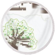 Round Beach Towel featuring the digital art City Tree by Kevin McLaughlin