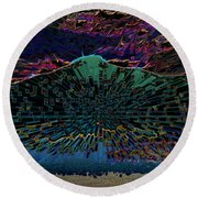 Civilization Round Beach Towel