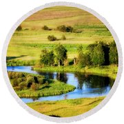 Round Beach Towel featuring the photograph Clark Fork Delta  by Albert Seger
