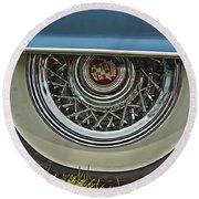 Classic Cadillac Wheel Round Beach Towel