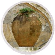 Round Beach Towel featuring the photograph Clay Pot by Lainie Wrightson