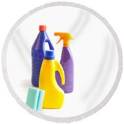 Cleaning Round Beach Towel