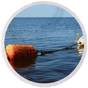 Round Beach Towel featuring the photograph Closed by Barbara McMahon