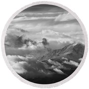 Cloud Art Round Beach Towel