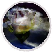 Round Beach Towel featuring the photograph Cloud Rose Painterly by Clayton Bruster