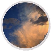 Clouds In The Spring Sky Round Beach Towel