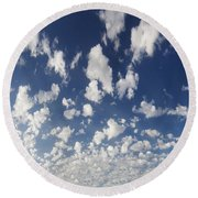Cloudy Sky Round Beach Towel