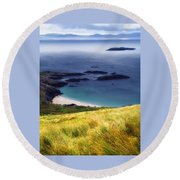 Coast Of Ireland Round Beach Towel