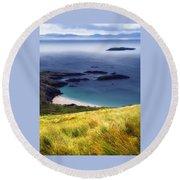 Coast Of Ireland Round Beach Towel