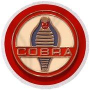 Cobra Emblem Round Beach Towel