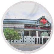 Round Beach Towel featuring the photograph Coca Cola Field  by Michael Frank Jr