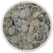 Cockle Shells Round Beach Towel