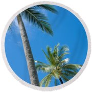Coconuts  Round Beach Towel by Atiketta Sangasaeng
