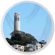 Coit Tower Round Beach Towel