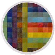 Collage Color Study Sketch Round Beach Towel