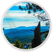 Round Beach Towel featuring the photograph Colorado View by Shannon Harrington