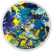 Colorful Tropical Fish Round Beach Towel