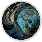 Colors Of The Ocean Round Beach Towel
