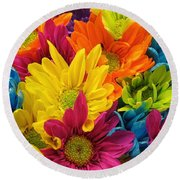 Colossal Colors Round Beach Towel