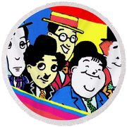 Comedy Greats Round Beach Towel