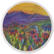 Comfortable Silence Round Beach Towel by Tanielle Childers